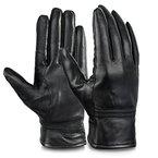 Vbiger Lederhandschuhe Winter Handschuhe Outdoor Handschuhe für Damen