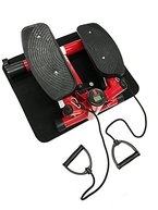 Style home® Stepper powerful stepper Mini Stepper Fitness stepper incl. Traningsbänder Display (Rot)