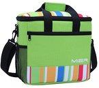 MIER 15L Große isolierte Mittagessen-Picknick-Kühltasche für Männer und Frauen, Grün