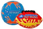 Schildkröt Funsports Mini Ball Duo 1 Volley 1 Football, Rot, 1, 970182