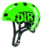 UVEX Kinder Kid 3 Radhelm, Dirtbike Green, 55-58 cm