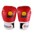 Kinder PU-Leder Kickbox MMA Muay Thai Boxsacktraining Lochen Boxhandschuhe Box Kamfsport Handschuhe - rot
