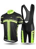 Inbike Radtrikot Set für Herren Fahrradbekleidung Kurzarm mit Trägerhose(XXL)