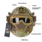 OneTigris PJ taktische Schnell Helm ABS Maske mit Brillen für Paintball Softair (MC)