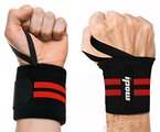 [ 2er Set ] Ipow® Handgelenkbandage / Handgelenkstütze / Handgelenkschoner /Bänder / Bandagen für Bodybuilding + Fitness ( Rot )