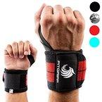 Handgelenkbandage (2er-Set) von FITGRIFF - Wrist Wraps (45cm) - Profi Bandagen für Kraftsport, Fitness, Bodybuilding, & Crossfit Training - für Frauen und Männer - 2 Jahre Garantie