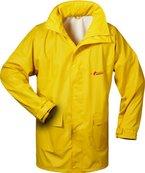 NORWAY PU Regen-Jacke mit Kapuze - gelb - Größe: S