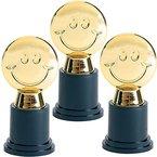 German Trendseller® - Smiley Party Pokal ┃Gold Award ┃Trophäe ┃ Auszeichnung für Veranstaltungen und Kindergeburtstage