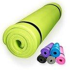 diMio Yogamatte / Pilatesmatte 185 x 60 cm, 5 Farben / 2 Stärken, rutschfest (Lime, 185 x 60 x 1 cm)