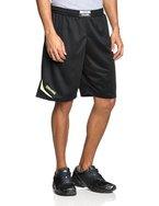 Spalding Herren Attack Shorts, Schwarz/Neongelb, L, 300511510