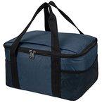 Praktische, leichte Kühltasche mit großem Hauptfach und 2-Wege Reißverschluss blau 37 x 20 x 27 cm