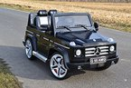 Kinderfahrzeug Elektroauto MERCEDES-BENZ G55 ! EVA-Räder Einsitzer Originallizenz Kinderauto mit Fernbedienung 12V , MP3 - Eingang