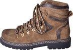 Almwerk Damen Trachten Bergschuh Wanderschuh verschiedene Farben, Schuhgröße:EU 39 - US 7 - Fußlänge 25.1 cm;Farbe:Hellbraun