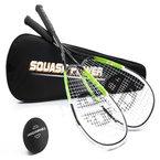 Unsquashable 2x DSP400 Squashschläger inkl. Squashball & Squashtasche ! 2013