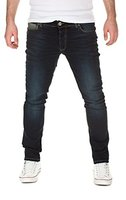 Yazubi Herren Jeans, Modell Edvin, Slim Fit, blue used (202), W34/L34