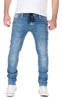 Yazubi Herren Sweathose in Jeansoptik Skinny Fit, light blue (20032), W31/L34