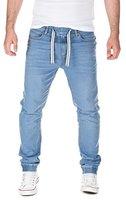 Yazubi Herren Jeans Ash - Bund und Saum mit Gummizug, light blue (30032), W32/L32