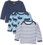 Care Baby-Jungen Langarmshirts Barba, 3er Pack, Mehrfarbig (Deep Skye Blue 720), 56