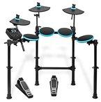 Alesis DM Lite Kit | Komplettes E-Drumset mit zusammenklappbarem Rack, USB MIDI Drumsound Modul, Drum Sticks