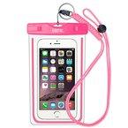 EOTW IPX8 Wasserdichte Tasche, Wasser- und staubdichte Hülle für Geld, Datenträger und Smartphones bis 15,24 cm (6 Zoll), Ideal für den Strand, Wassersport, fürs Radfahren, Angeln, usw. (Pink)