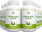Green Nutrition - Grüner Kaffee Extrakt - Hochdosiert - Vegan - Vegetarisch - Laktosefrei - Glutenfrei - Aspartamfrei - Genfrei - 100 Kapseln - 6er Pack
