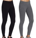 Leggingshosen leggings sport damen Laufen hose Joggings dehnbar Schwarz+grau slim fit,Größe M