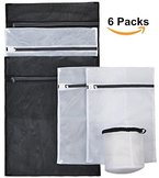 Wäschenetz Set mit 6 Wäschesacken in verschiedenen Größen, Wäschebeutel aus hochwertigem Netzmaterial für Waschmaschine, von Nestron