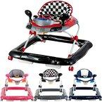Lauflernhilfe Racer mit Spielcenter (5 Melodien) Gehfrei Gehhilfe Baby Walker in 4 verschiedenen Farben (Schwarz / Rot)