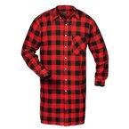 Flanellhemd gewebt extralang rot/sw Größe: 4XL Farbe: rot