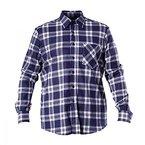 LAHTI PRO Herren Flanell-Hemd Arbeitshemd Holzfällerhemd 100% Baumwolle - kariert - CE/EN 340 (S, Blau)