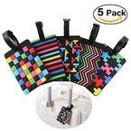 PIXNOR Kofferanhänger PVC Bag Tags 5er Pack