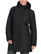Jack Wolfskin Damen 3-in-1 Mantel Ottawa Coat, Black, XL, 1100923-6000005