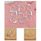 dealglad® 100Versilbert Kupfer French Ohrring Haken Hebel Rückseite mit Ohrhaken Jewelry Ergebnisse