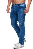 TAZZIO Slim Fit Herren Styler Look Stretch Jeans Hose Denim 16533 Blau 32/32