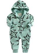 Vaenait Baby 56-80 Winter Schafwolle Mutze Overall Oberekleidung Safari Warm Twinkle Mint S