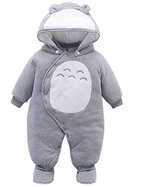 Vine Baby Strampler Overall Winterjacke Onesie Unisex Cartoon Baby Strampelanzug mit Kapuze, 0-3 Monate