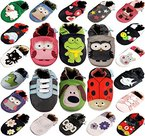 MiniFeet Premium Weiche Leder Babyschuhe, Katze 12-18 Monate