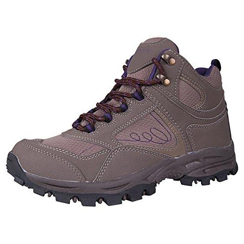 Mountain Warehouse Skyline Damen Trekking Schuhe Wandersport Trail Wanderschuhe bergwandern atmungsaktiv bequem Grau 39