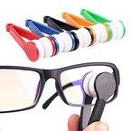 Sanwood 1pcs Mini Microfaser Brille Reiniger Bürsten Reinigungswerkzeug, Zufällige Farbe