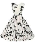 1950s vintage retro festliches kleid audrey hepburn kleid sommerkleid petticoat kleid Größe 3XL CL6086-11