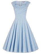 1950er vintage retro kleid hepburn stil festliches kleid faltenrock petticoat kleid M BP105-4