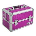 anndora Beauty Case Kosmetikkoffer Schmuckkoffer 21 L - Aluminium pink violett