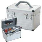 Beautycase Schminkkoffer Kosmetikkoffer Aluminium silber 49007