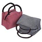 Outus 2 Stück Zipper Tote Lunch-Tasche Picknick Lebensmittelgeschäft Handtasche für Reise, Schule und Arbeit ( Schwarz und Rot)