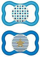 MAM 68299511 Air Night Silikon schnuller, 16+ Jungen, blau