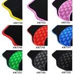 Auto Fußmatten/Auto Matten, Stoff Teppich mit PVC, Universal passend, 4-teilige Riffelblech, rutschfest, Luxus Design P01 (Schwarz/Rot)