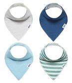 Baby Dreieckstuch 4er Pack von Loni Halstuch Spucktuch Lätzchen für Babys Kleinkinder, doppellagig saugfähig weich größenverstellbar