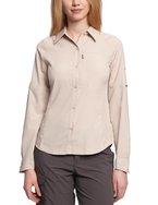 Columbia Silver Ridge Long Sleeve Shirt Damen Bluse, Fossil, M, 1443231