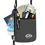 RFID-Blockierung Brustbeutel - IntiPal Reisegeldbeutel Organizer Brusttasche für Wertgegenständen (Grau)