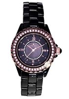 Stella Maris Damen-Armbanduhr Analog Quarz Premium Keramik Diamanten - STM15E4